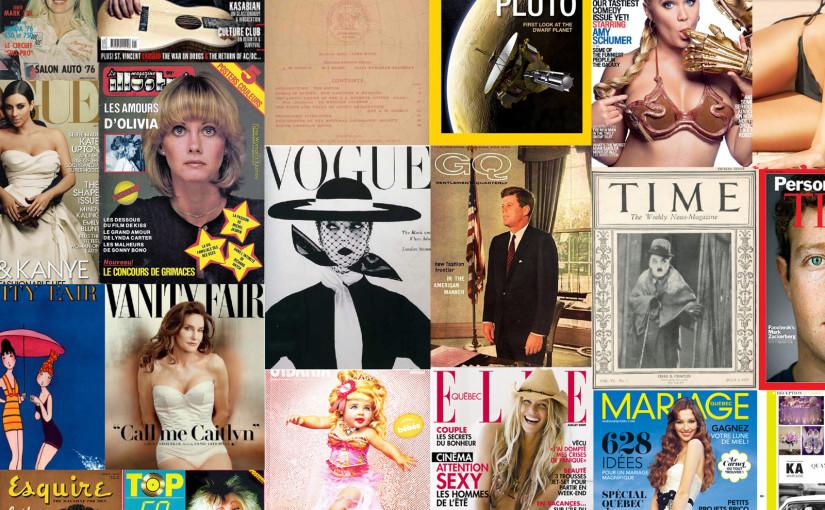 L'évolution des couvertures de magazines